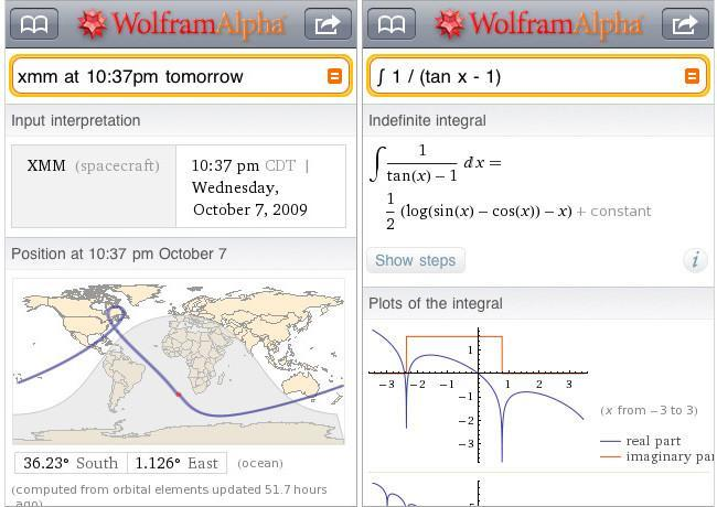 WolframAlpha Iphone App 2