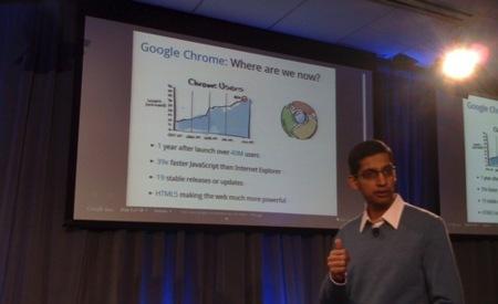 chrome os google presentación