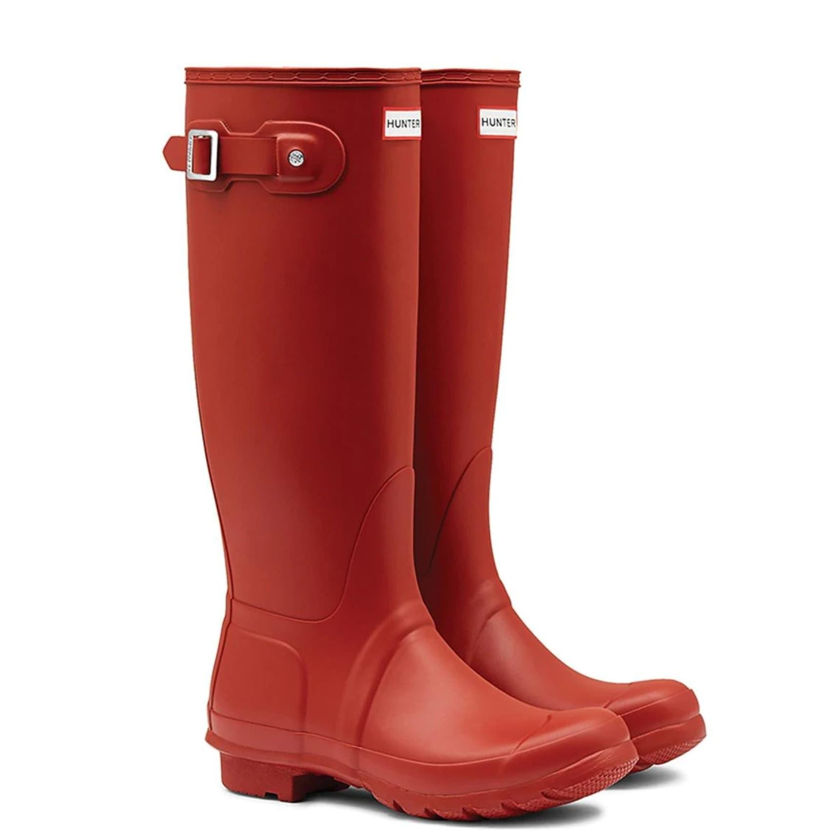 Botas de agua de mujer Hunter en rojo de caña alta