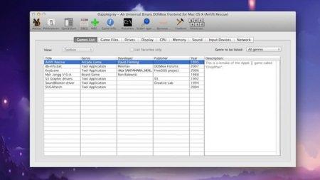 Dapplegrey, el interfaz altamente configurable para tus juegos de DOSBox en OS X