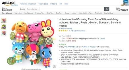 Colección Animal Crossing en Amazon