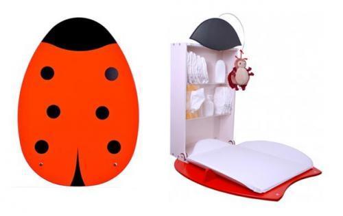 Simp ticos muebles cambiadores de pared for Muebles cambiadores de bebe