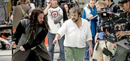 Richard Armitage y Peter Jackson durante el rodaje