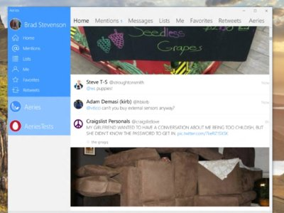 Aeries for Twitter pronto estará disponible como una aplicación universal para Windows 10