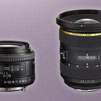 HD Pentax-DA 11-18mm F2.8 ED DC AW y HD Pentax-FA 35mm F2, nuevas ópticas para cámaras réflex con sensor APS-C/ FF y montura K