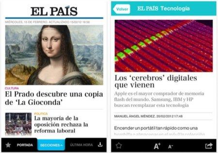 La aplicación de El País para iOS se renueva por completo