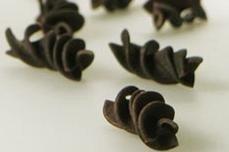 Espirales de pasta con sabor a cacao