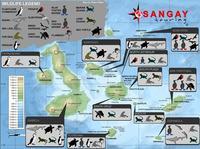 Islas Galápagos: mapa con la fauna de las islas
