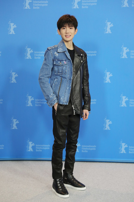 Yang Wuan Berlinale Red Carpet Biker Jacket Leather Denim 03