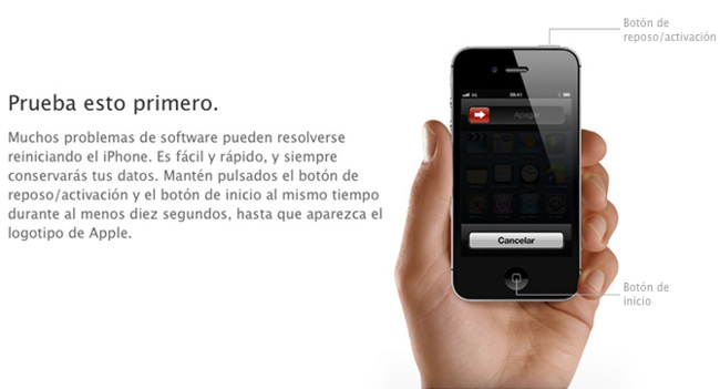 Reiniciar el iPhone