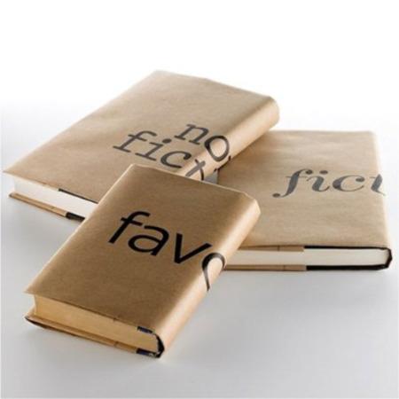 Tapas de papel para libros