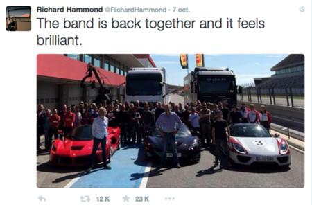 Ya casi están de regreso nuestros petrolheads favoritos, Clarkson, Hammond y May graban su nuevo show