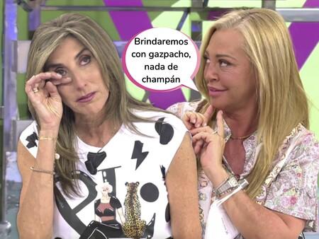 Belén Esteban anuncia que se casará de nuevo con Miguel (esta vez por la iglesia) el año que viene y Paz Padilla se rompe al recordar su boda con Antonio Juan
