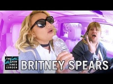 Nos faltaba ella, Britney Spears se sube al coche cantarín de James Corden