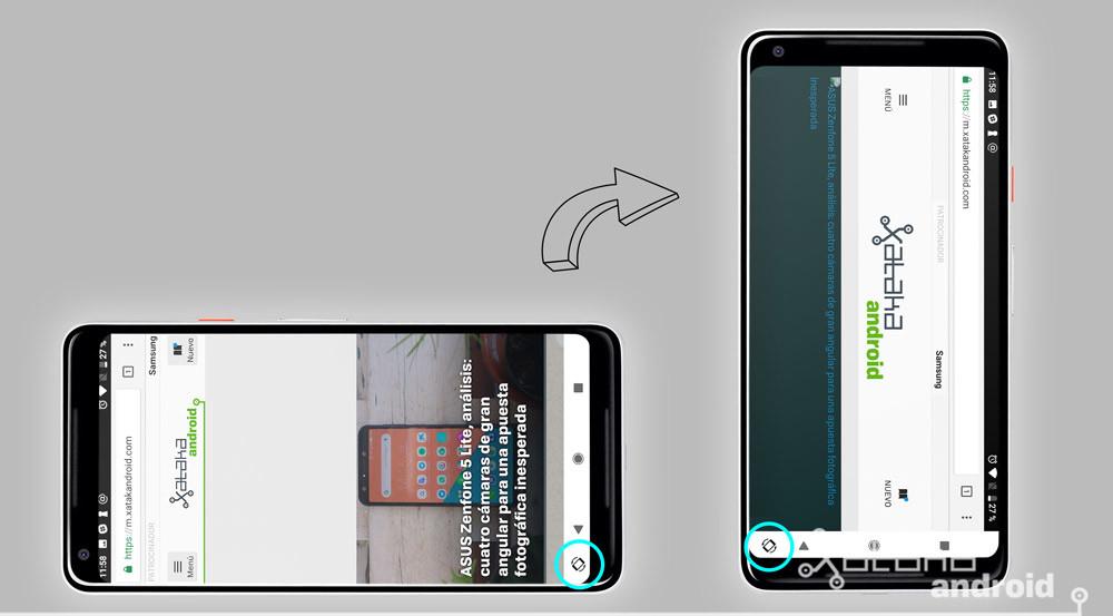 Android P bloquear metodo apaisado