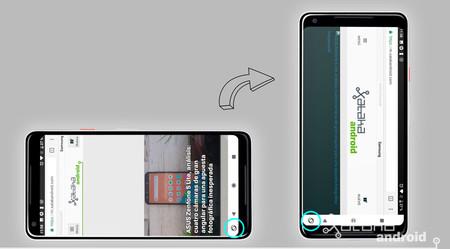Android P bloquear modo apaisado