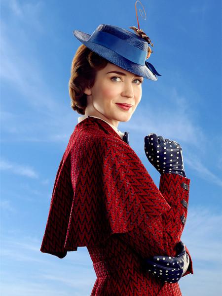 Mary Poppins Abrigo Rojo