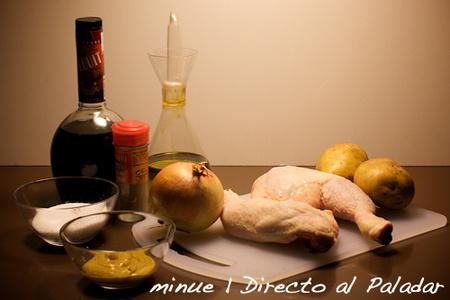 pollo a la mostaza - ingredientes
