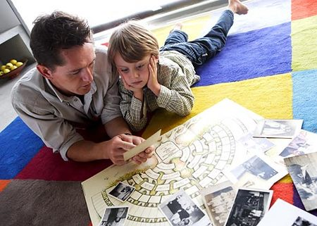niño con su padre