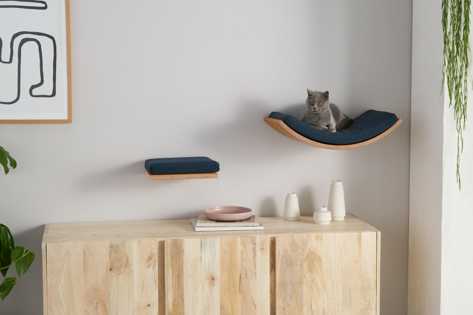 Juego de dos estantes para gatos