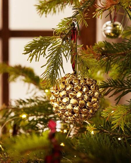Bola De Navidad Con Cascabeles