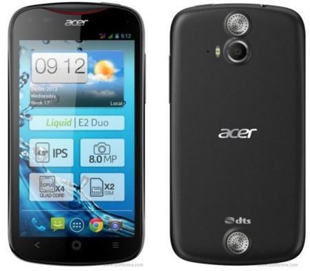 Acer Liquid E2, toda la información del nuevo smartphone Android de Acer