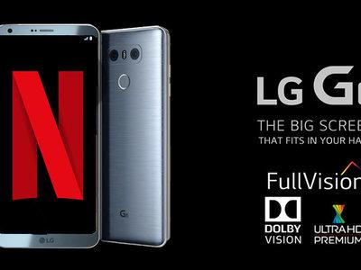 El primer teléfono certificado por Neftlix para HDR y Dolby Vision es el LG G6