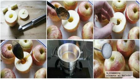 Manzanas asadas con nata y coñac