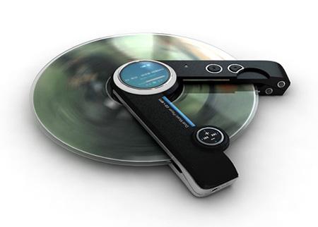 Concepto de MP3 y lector de CDs