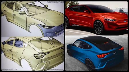 ¡Al desnudo! Por fin podemos ver el SUV eléctrico Ford Mach E al descubierto en estos modelados CAD
