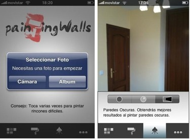 Aplicación PaintingWalls para iPhone. La probamos