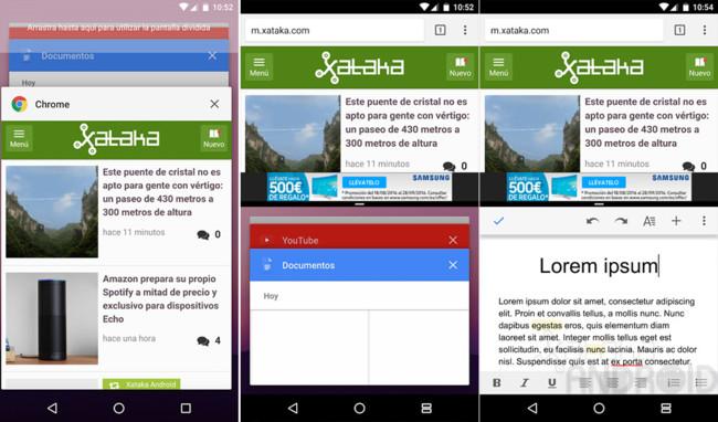 Android 7.0 Nougat pantalla dividida