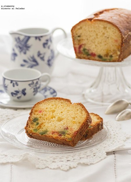 Plum cake de frutas confitadas sin mantequilla: receta