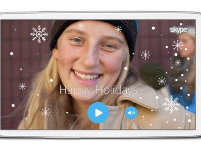 Cómo enviar una videofelicitación navideña con Skype
