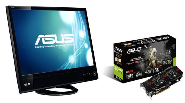 monitor y tarjeta ASUS