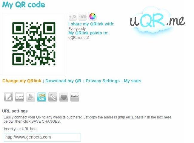 uqr.me, un completo servicio web