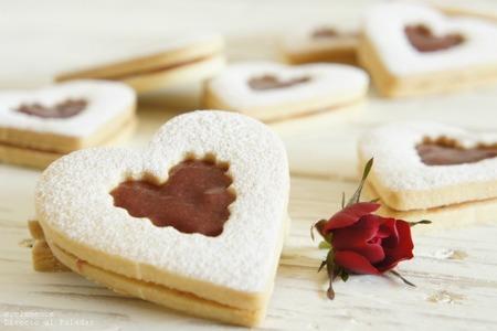 galletas linzer san valentin