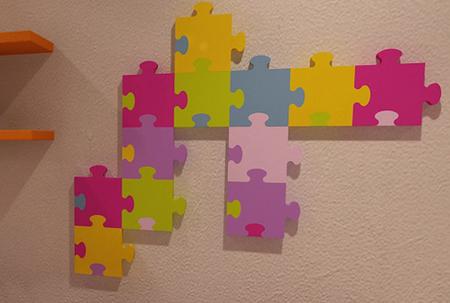 Radiador puzzle para la habitación infantil