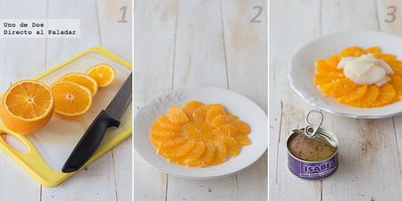 Ensalada de bacalao, naranja y atún Isabel