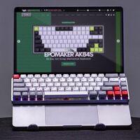 """Epomaker NT68: este teclado mecánico Bluetooth quiere sustituir el teclado de tu laptop con su """"soporte invisible"""""""