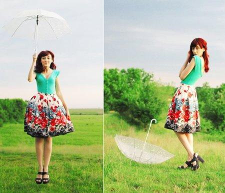 Falda flores calle