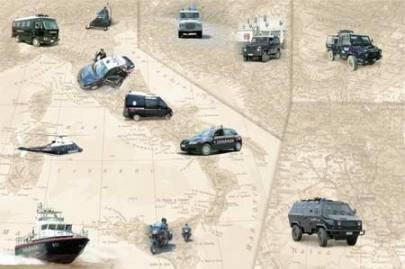 Los Carabinieri y sus vehículos
