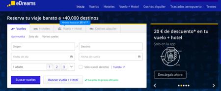 Descarga la App de eDreams y consigue 20 euros de descuento en tu próximo viaje