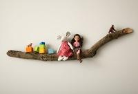 Hazlo tú mismo: un estante con una rama de árbol