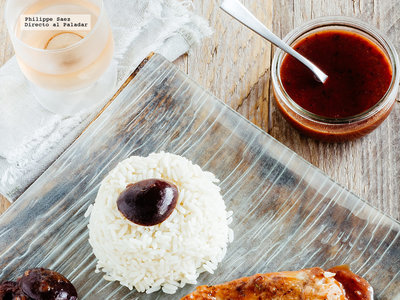 Filetes de pescado en salsa de ciruela. Receta fácil