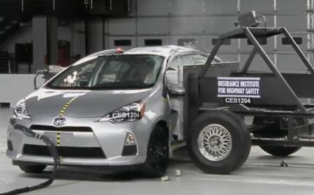 El Prius C logra la máxima puntuación en el test de impacto