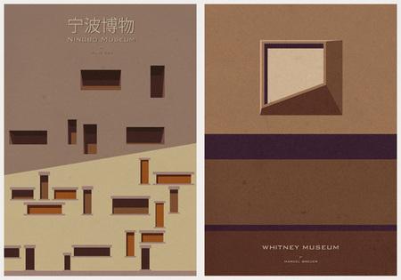 Ilustraciones icónicas de arquitectura - 3