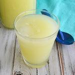 Agua de limón amarillo con epazote. Receta para las Fiestas Patrias