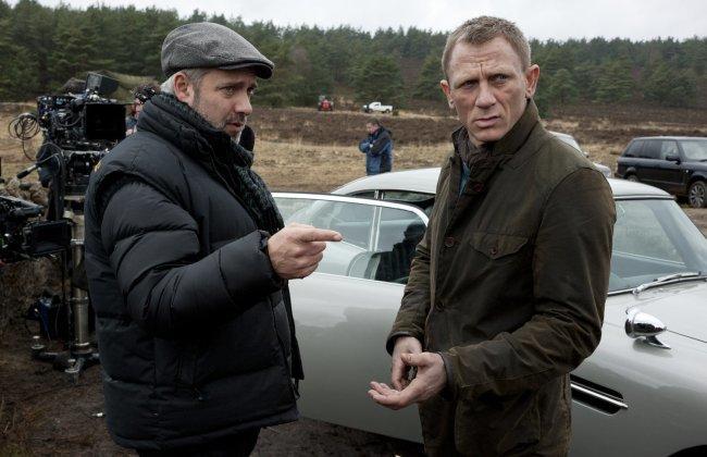 Sam Mendes y Daniel Craig durante el rodaje de Skyfall