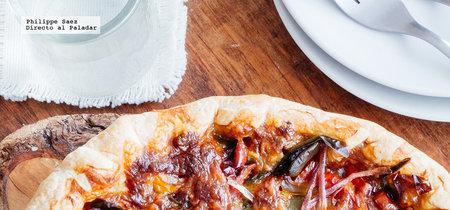 Tarta de pimientos y mozzarella. Receta fácil